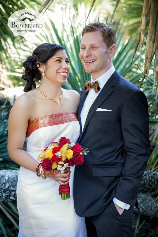 Wedding first-look at the Stanford Arizona Garden. © Bowerbird Photography, 2014