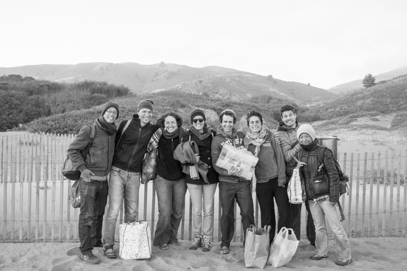 Group photo by the dude on the beach :)