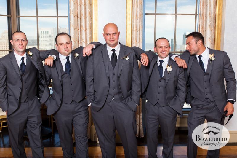 Groomsmen. Westin St. Francis Hotel SF Wedding © 2014 Bowerbird Photography