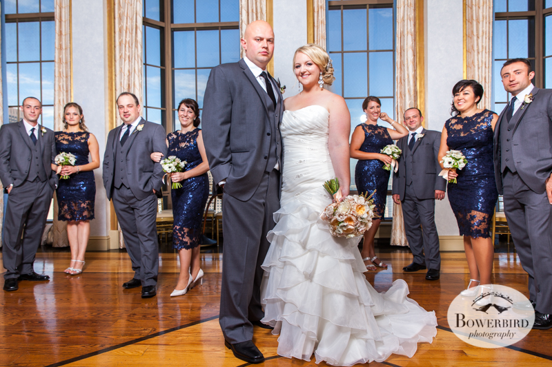 This bridal party is bringing it!Westin St. Francis Hotel SF Wedding © 2014 Bowerbird Photography