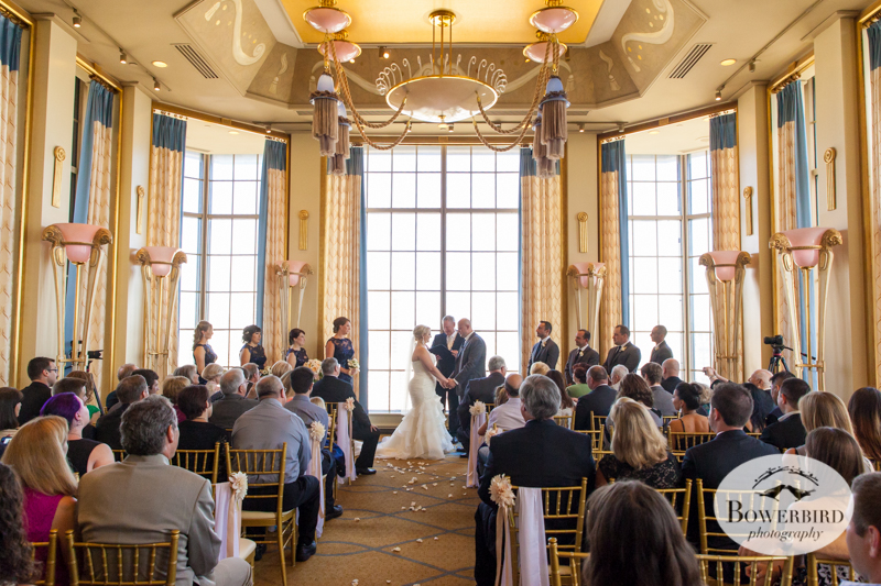 Westin St. Francis wedding ceremony on Imperial Floor in Victor's room. © 2014 Bowerbird Photography