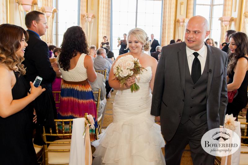 Westin St. Francis wedding ceremony on Imperial Floor. © 2014 Bowerbird Photography