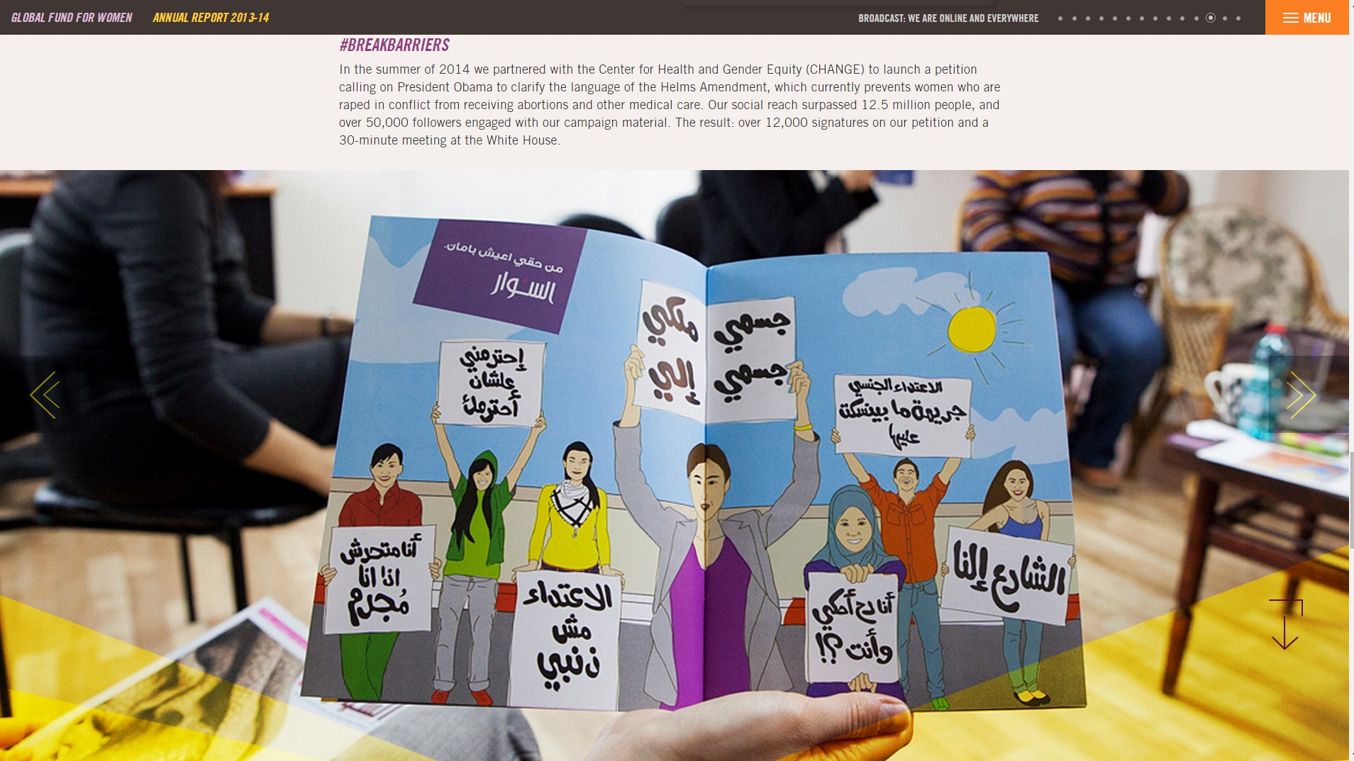 Global Fund for Women's Annual Report.