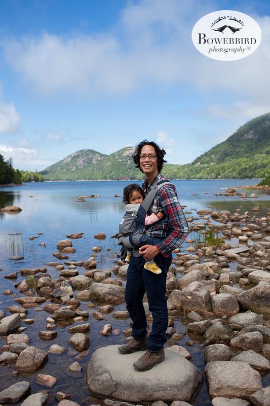 Jordan Pond, Acadia National Park.Traveling with baby in Acadia National Park, Mt. Desert Island, Bar Harbor, Maine.© Bowerbird Photography 2016