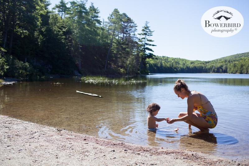 Lake Wood Pond, Acadia National Park.Traveling with baby in Acadia National Park, Mt. Desert Island, Bar Harbor, Maine.© Bowerbird Photography 2016