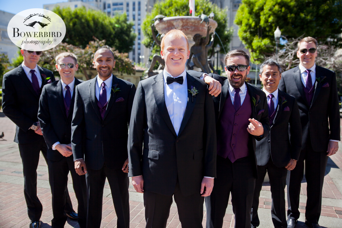 The groom's team at Huntington Park. © Bowerbird Photography 2016