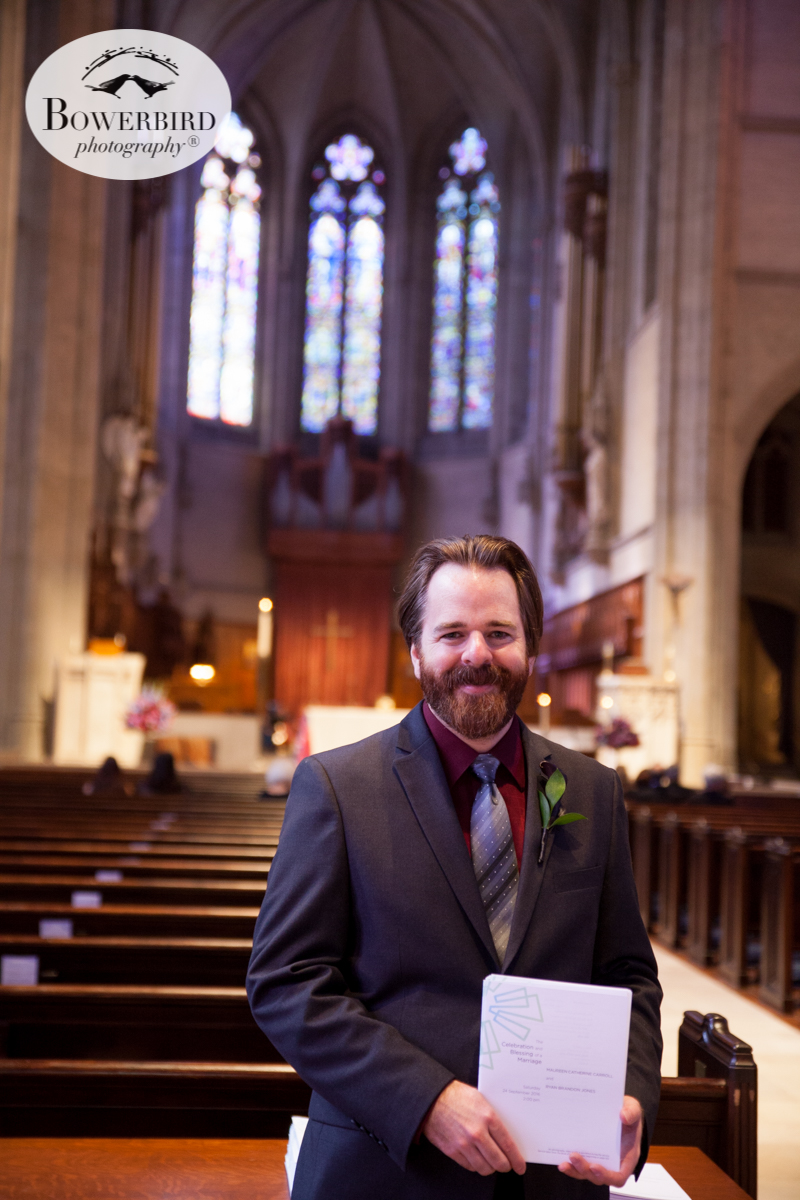 Ushering with style. Wedding photos at Grace Cathedral. © Bowerbird Photography 2016