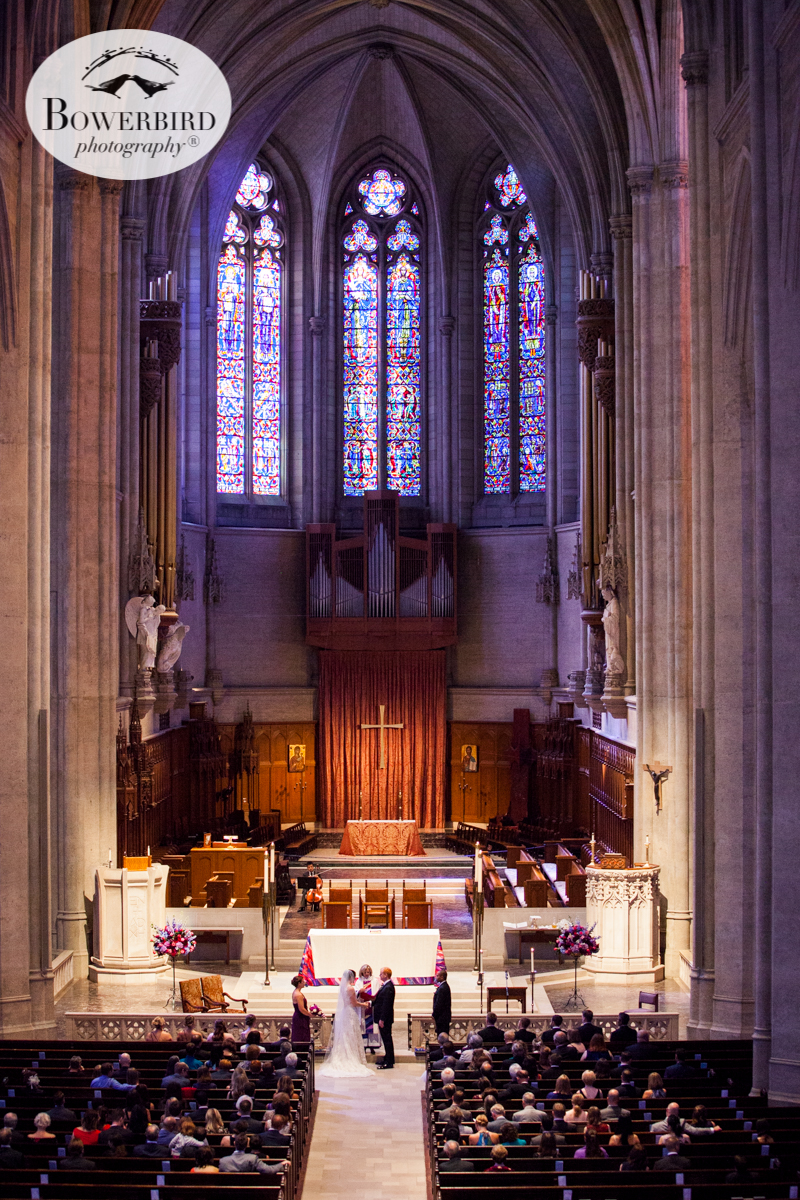 Grace Cathedral, SF, for a majestic wedding. © Bowerbird Photography 2016