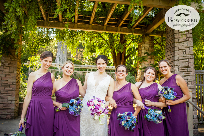 The bridesmaids at the SF Botanical Garden © Bowerbird Photography 2016
