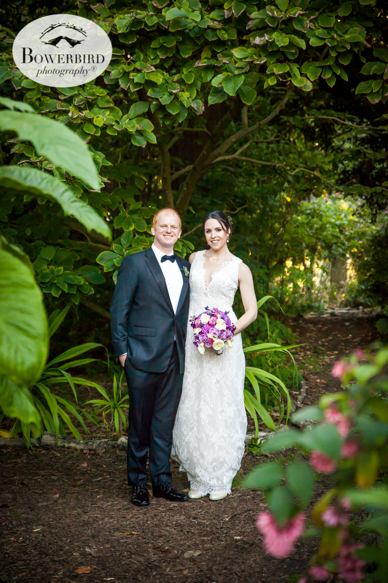 SF Botanical Garden wedding photos. Here the bride and groom in a tropical paradise! © Bowerbird Photography 2016