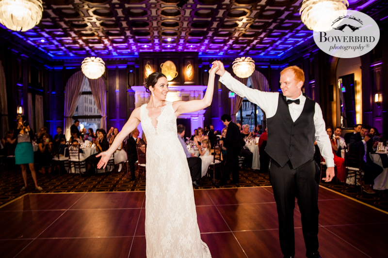 First dance at the Julia Morgan Ballroom. Wedding reception photos. © Bowerbird Photography 2016