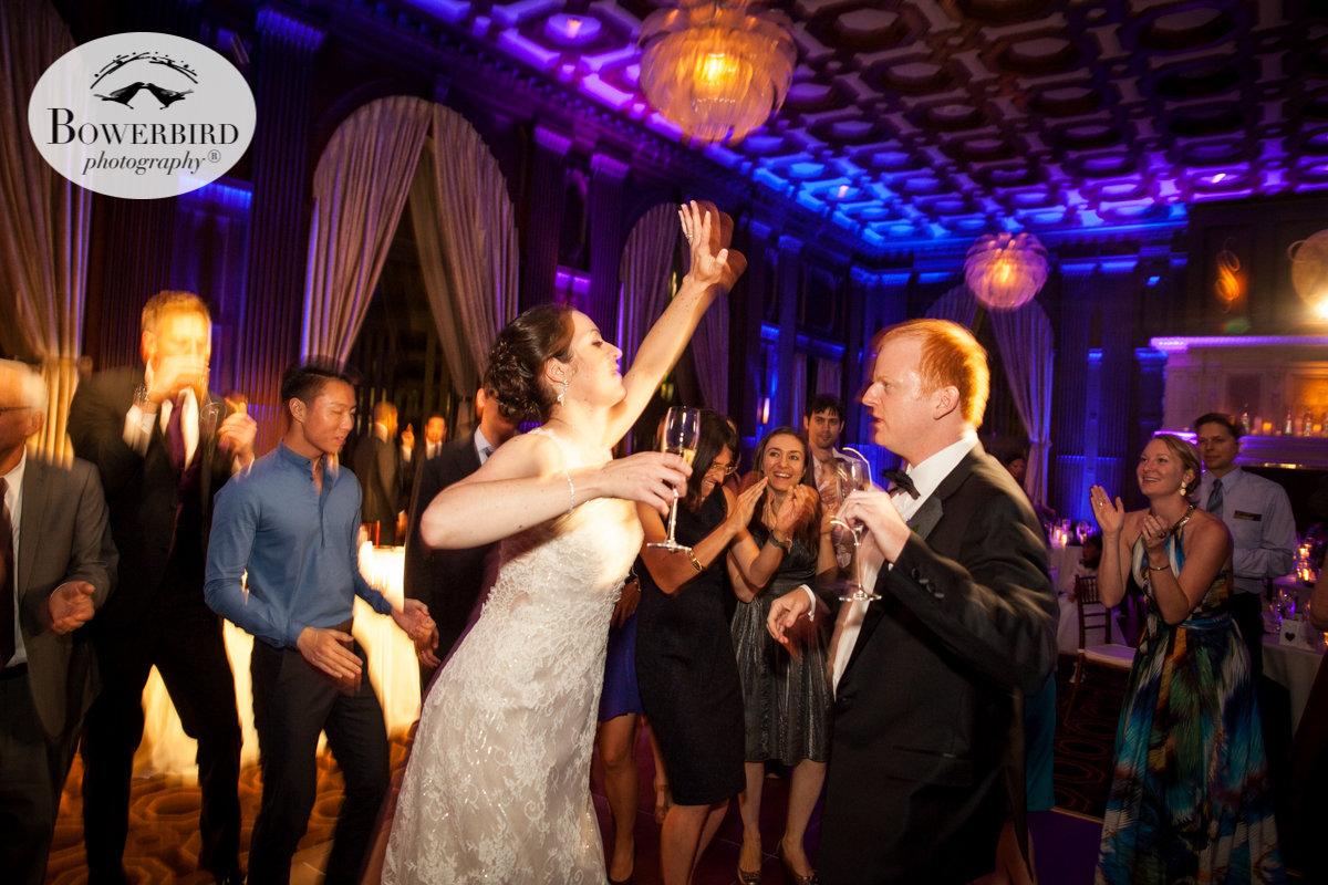 The bride and groom shake their groove thang at the Julia Morgan Ballroom. © Bowerbird Photography 2016