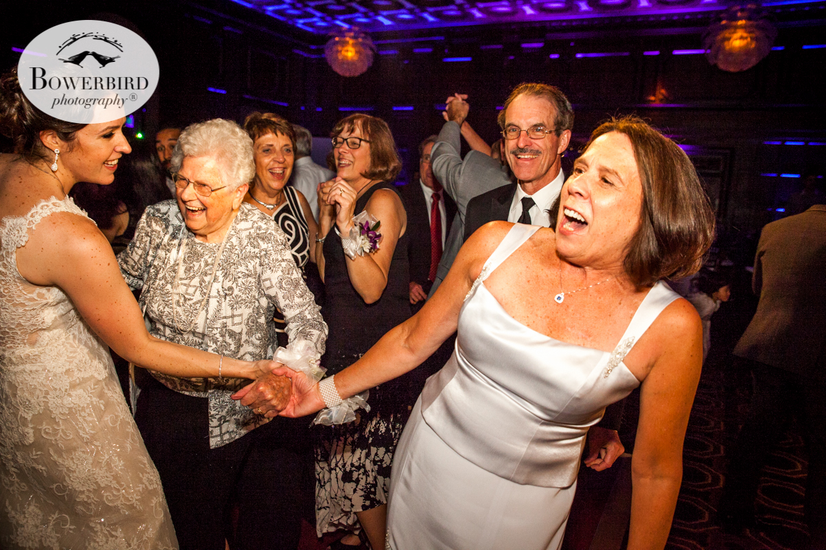 Everybody's excited that Grandma wants to dance with the bride! Julia Morgan Ballroom. © Bowerbird Photography 2016