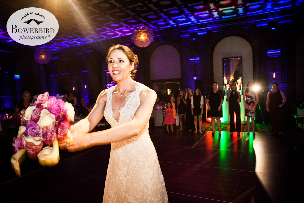 Bouquet toss at the Julia Morgan Ballroom. © Bowerbird Photography 2016