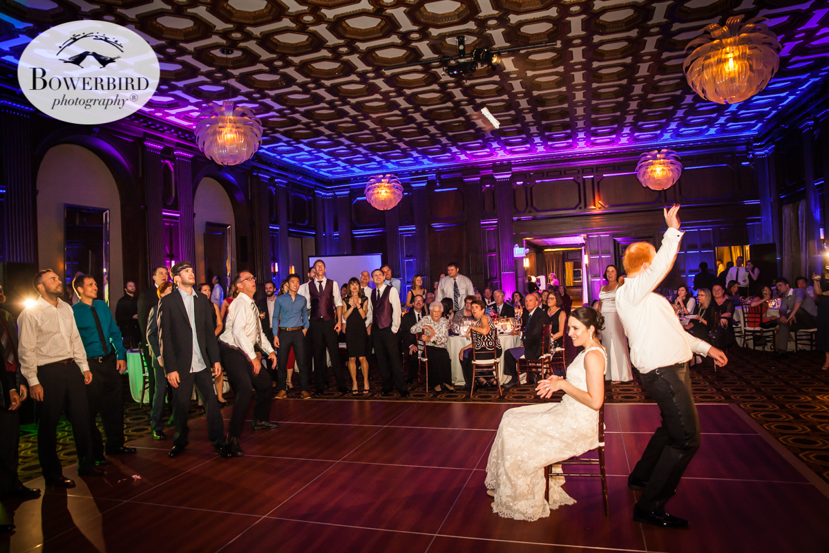 Garter toss at the Julia Morgan Ballroom. © Bowerbird Photography 2016