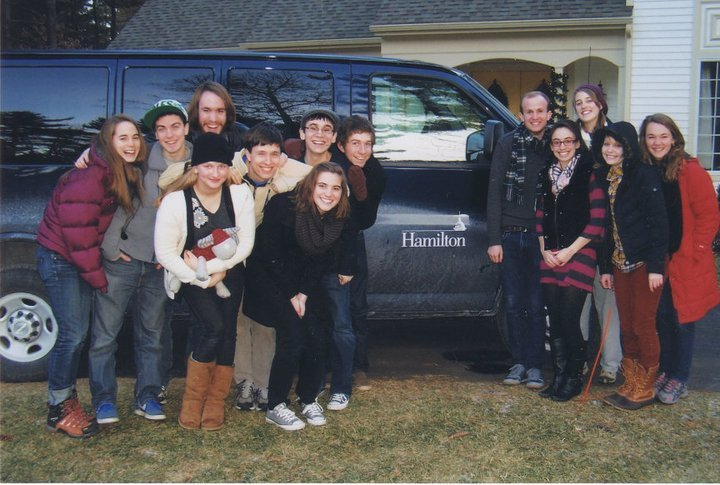 Members of Duelly Noted on our first Winter tour in January 2011