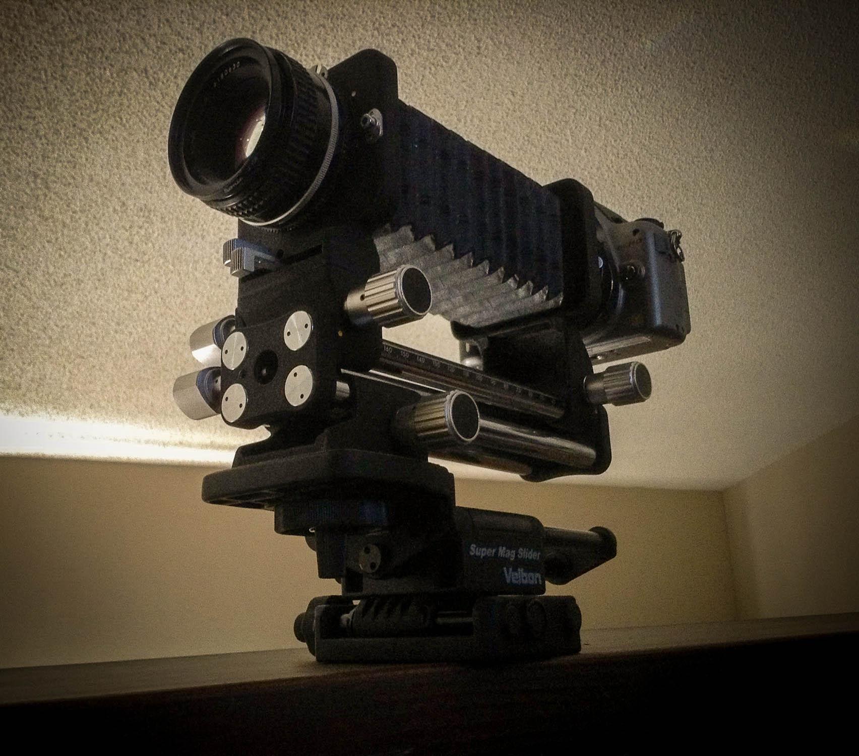 Nikon PB-4 Bellows mounted to my Pnasonic GH2