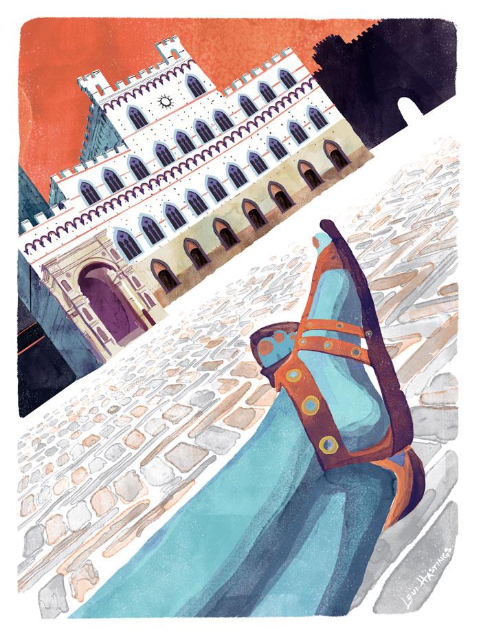 "Siena Shoes   11"" x 14"" Watercolor & Digitial"