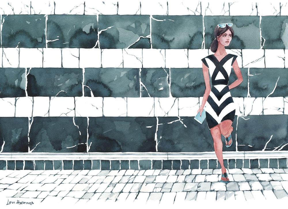 """Side Street   Watercolor 16"""" x 20"""""""