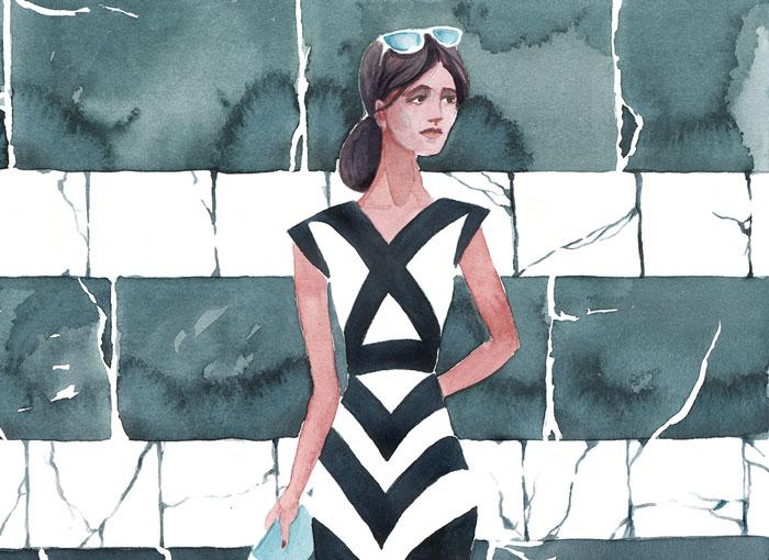 """Side Street (detail)   Watercolor 16"""" x 20"""""""