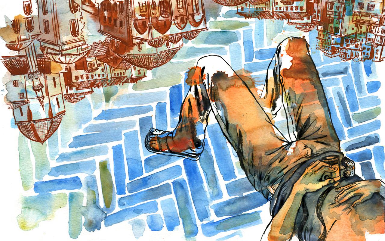 Ink, Watercolor, Digital ©2012