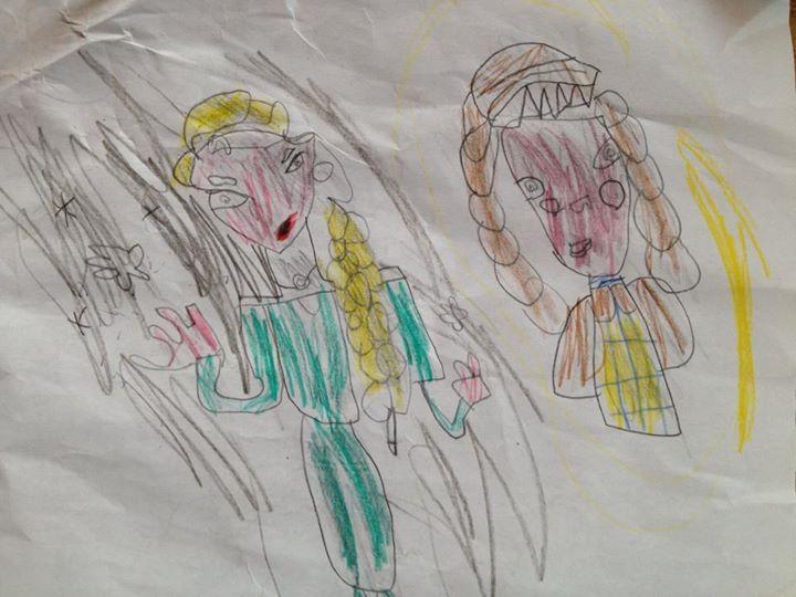 Ali (6) Elsa and Anna