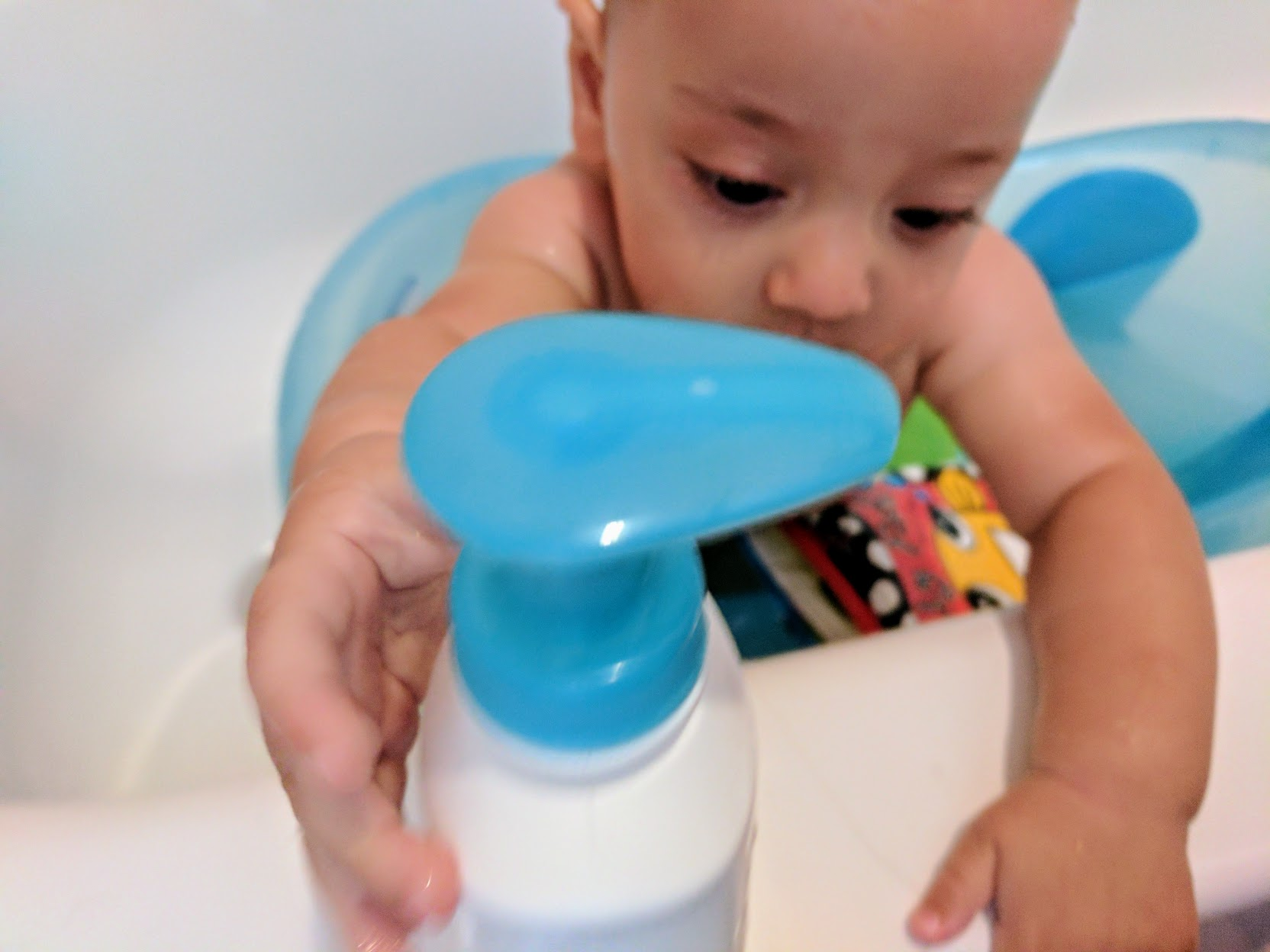 The bottle also makes a great bath toy