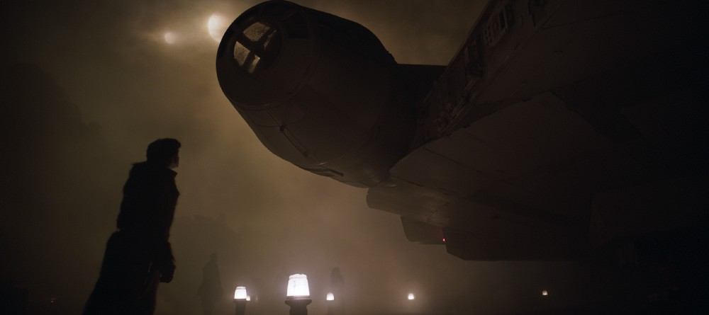 - Han joins, what seems to be a rough and tumble crew aboard a ship along with the ever present Chewbacca.