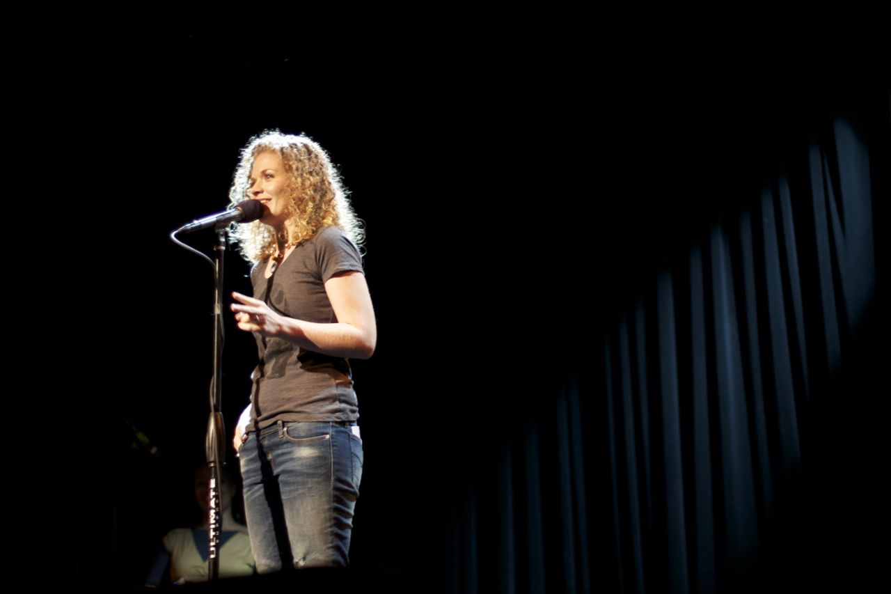 The Moth GrandSLAM at The Music Hall in Williamsburg, photo by Justin Lee