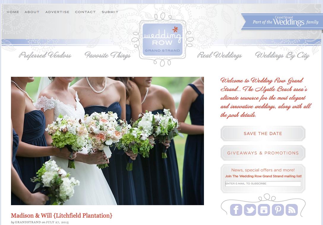 Litchfield Plantation Wedding Photography