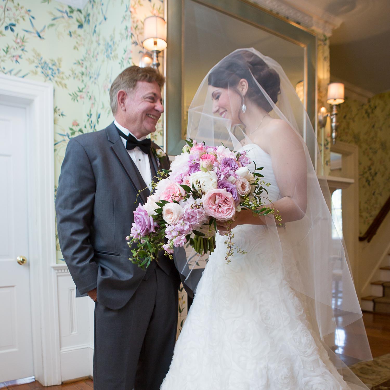 Legare Waring bride and dad by MCG