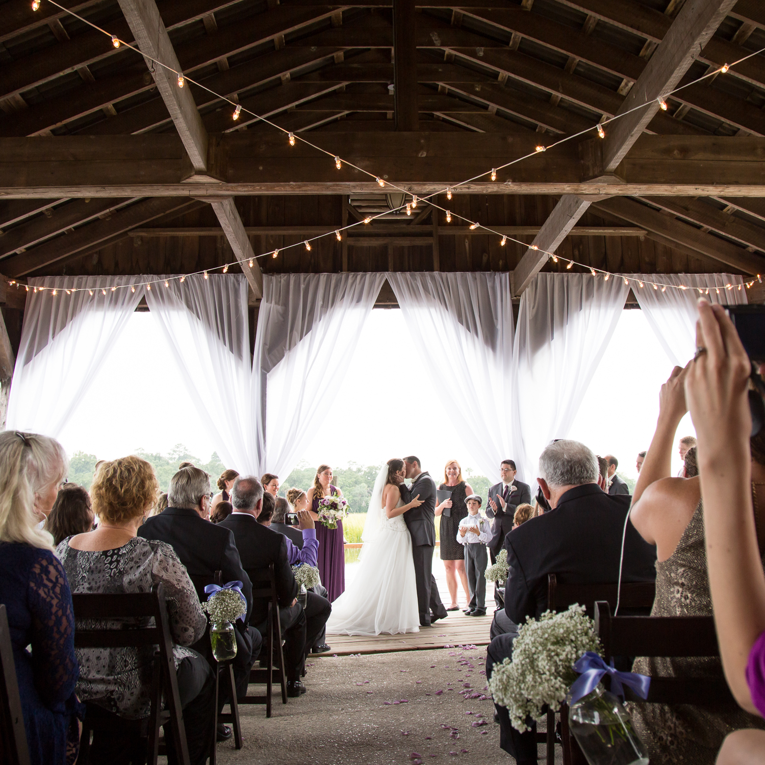 Boone Hall Cotton Dock Ceremony by MCG