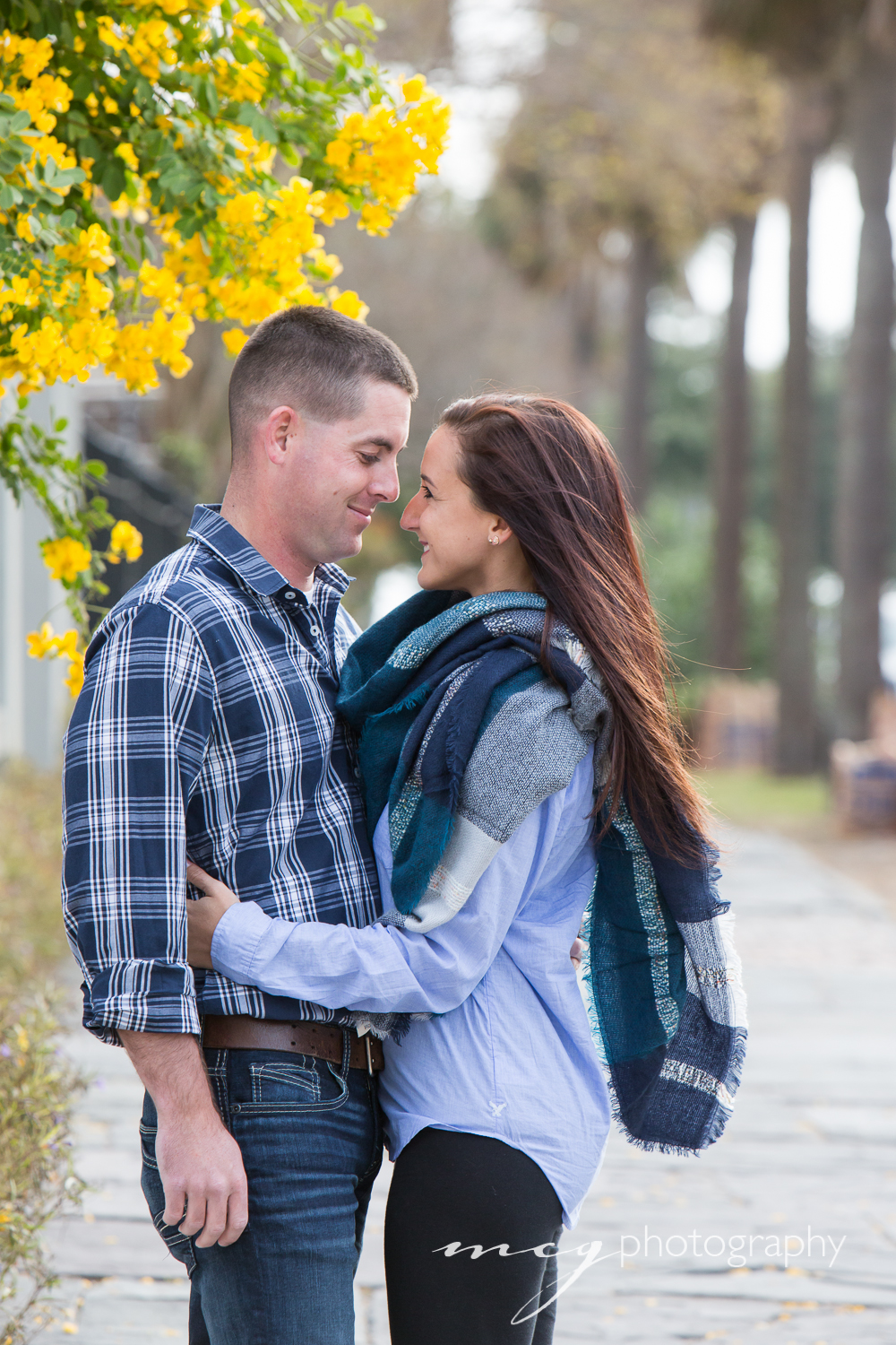 Charleston Engagement Photographs in Fall
