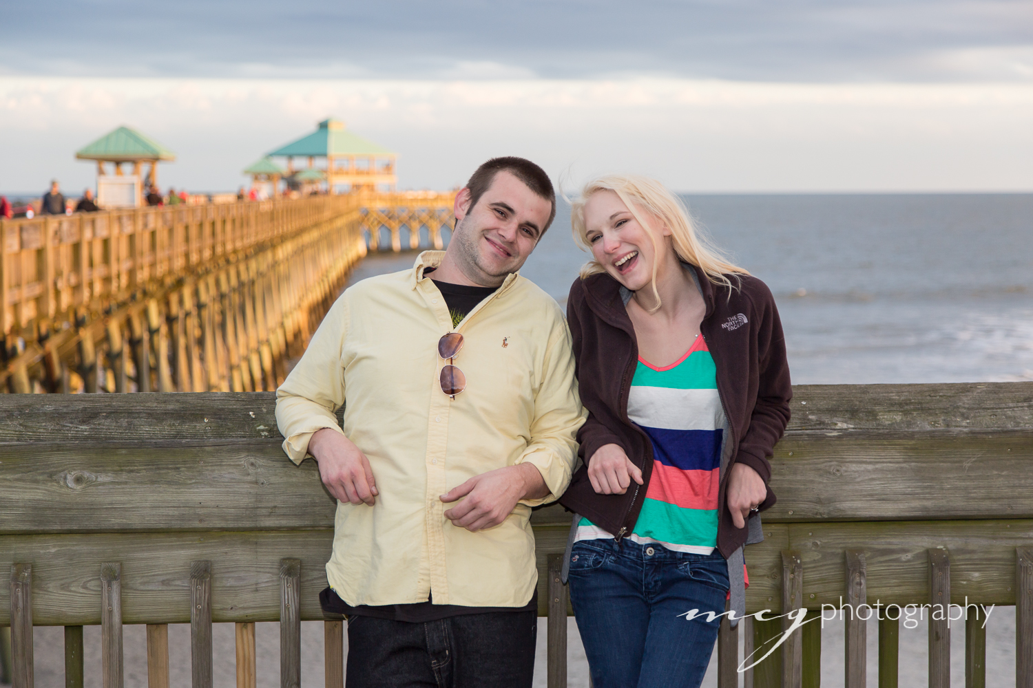Folly Beach SC Engagement pictures