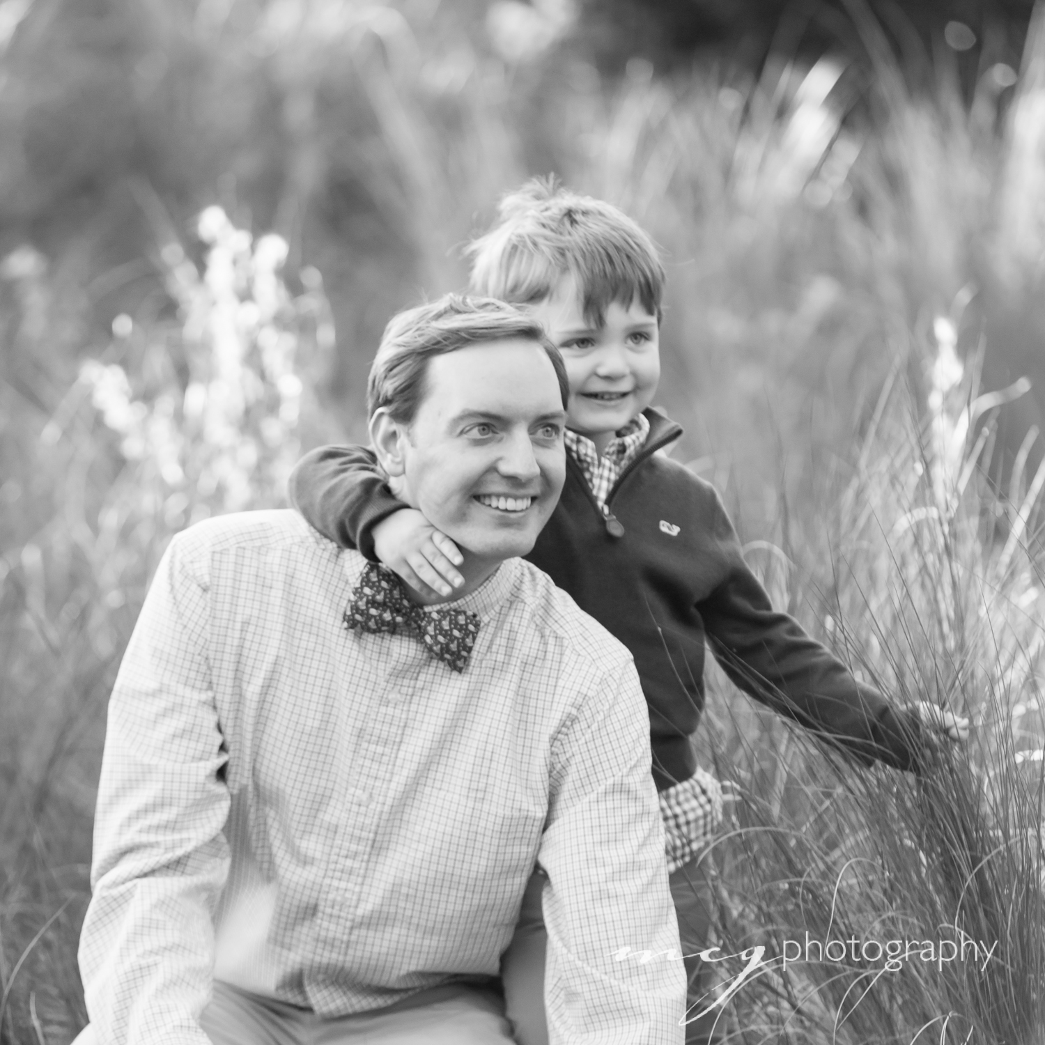 Father Son Black and White Photography