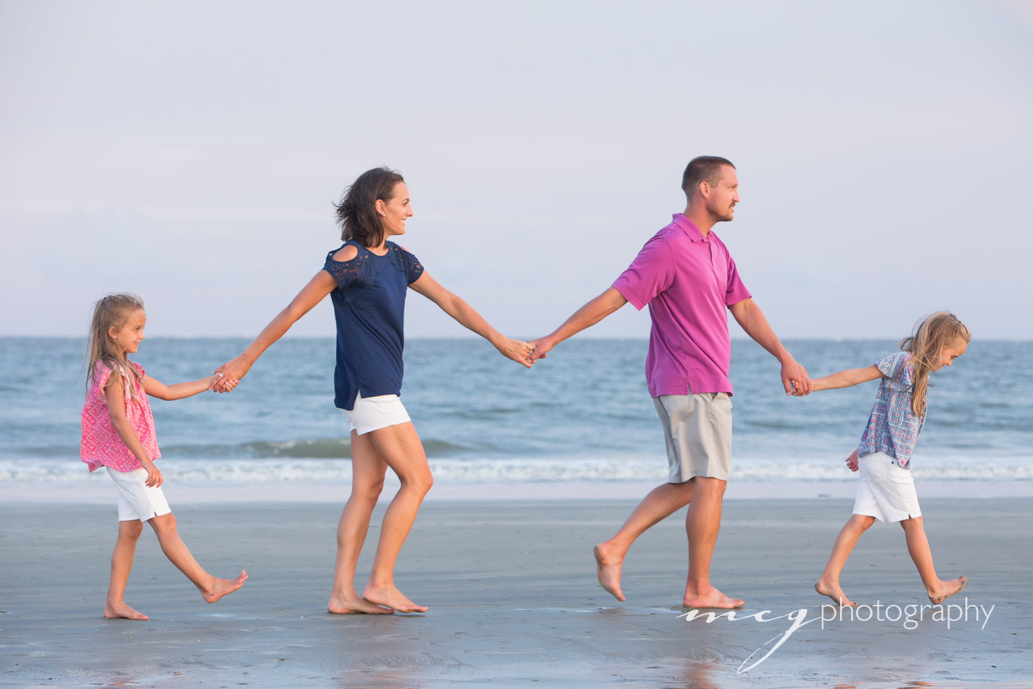 Seabrook SC family beach portraits
