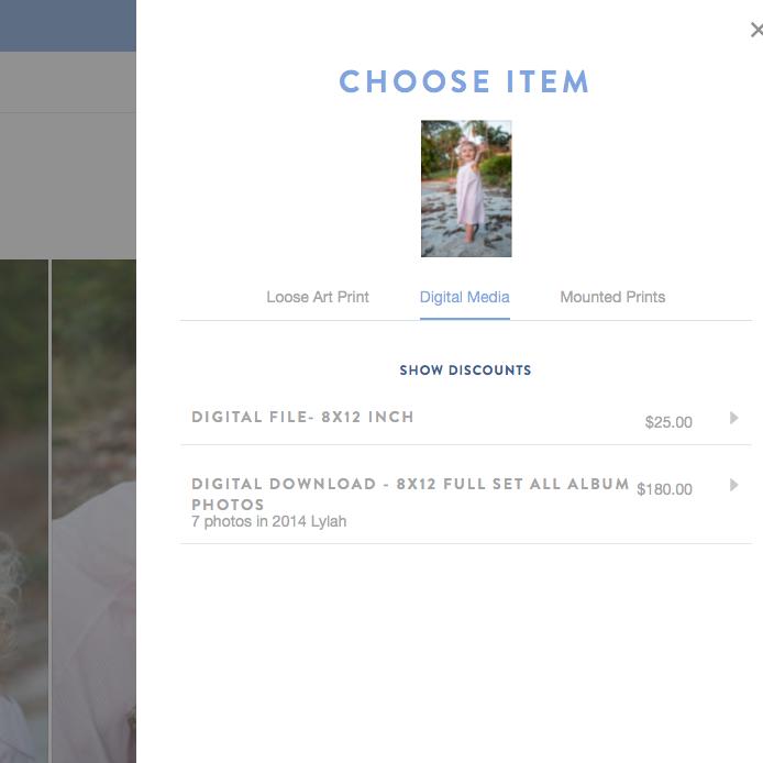 screenshot of purchase option