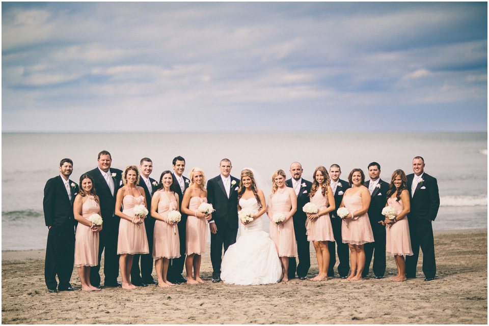 The bridal Party- Cleveland Wedding Photographer Windows on the River Lake Erie