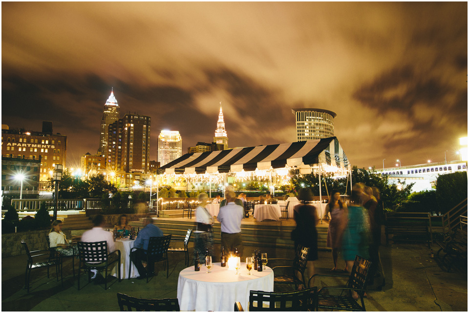 Cleveland skyline from the river! Cleveland Wedding Photographer Windows on the River Lake Erie