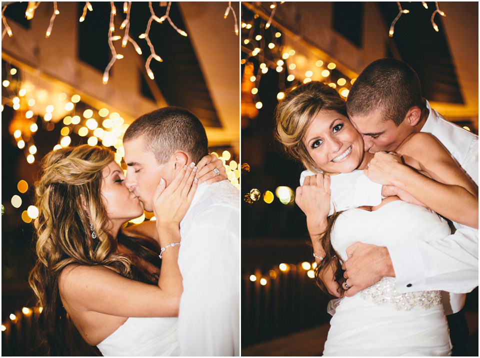Last kiss of the night! Cleveland Wedding Photographer Windows on the River Lake Erie
