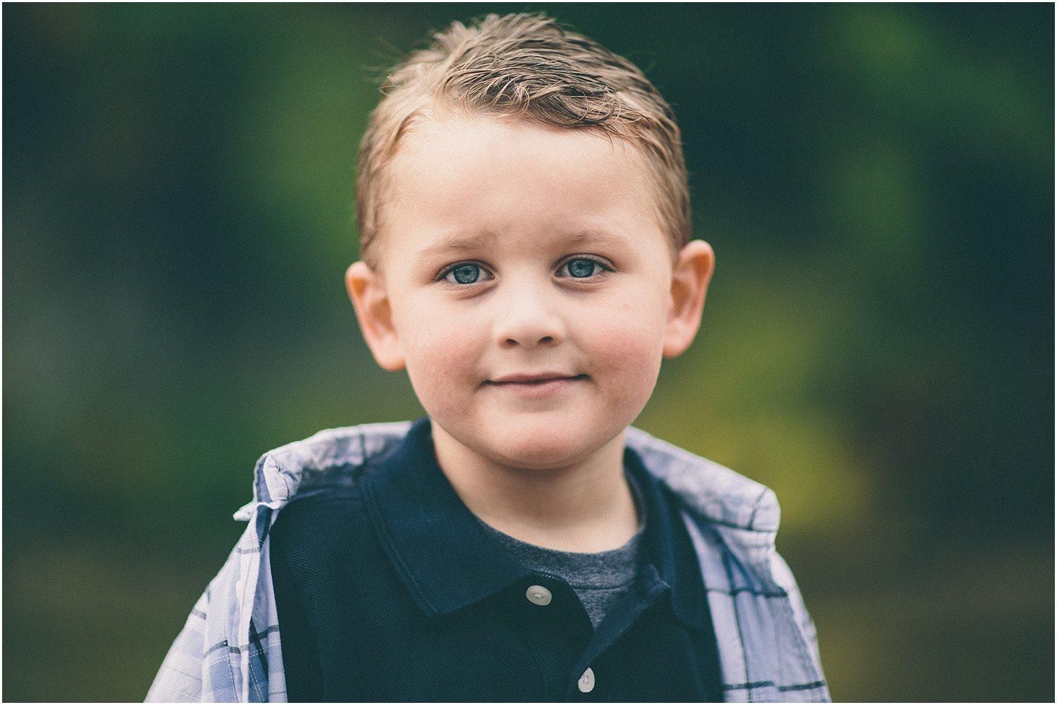 What an adorable boy! - Family Portraits in Cleveland at Rocky River Park