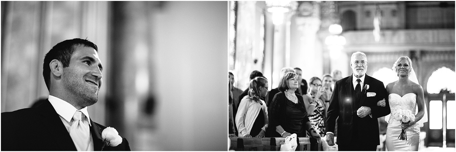 Big smiles. - Creative Cleveland Wedding Photographer - St. James Church