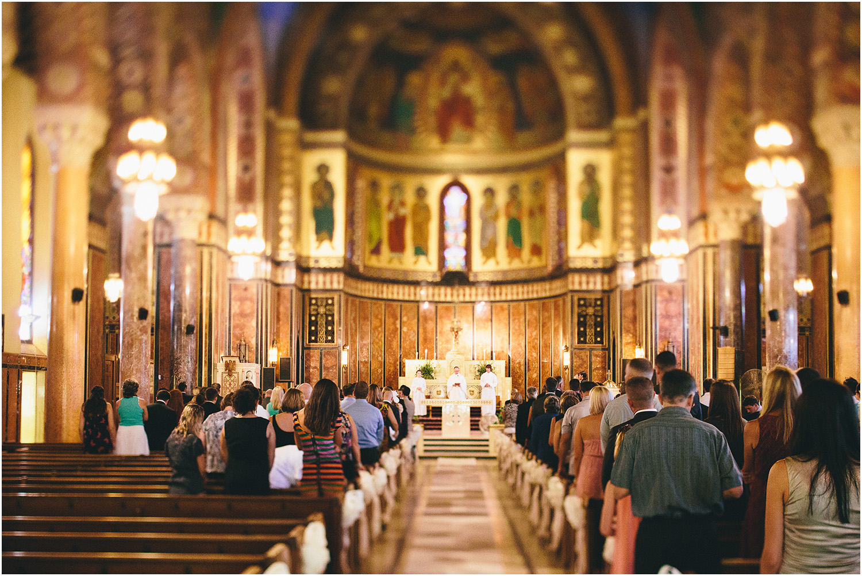 A beautiful church! - Creative Cleveland Wedding Photographer - St. James Church