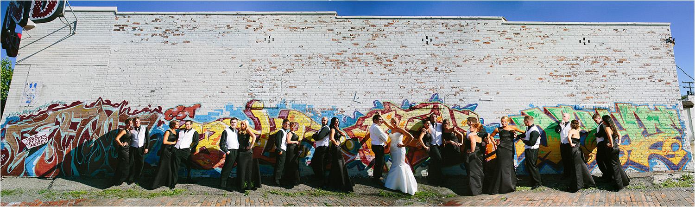 Epic! Creative Cleveland Wedding Photographer - Ohio City Graffiti