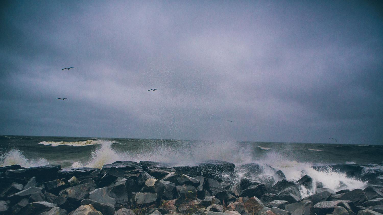 Hurricane Sandy in Cleveland Lake Erie