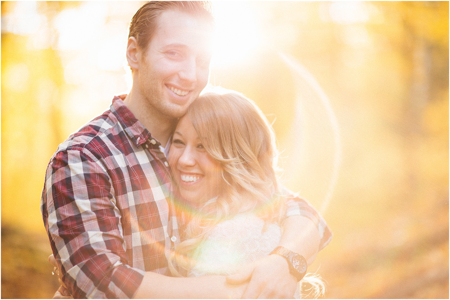 Such cool lens flare! - Cleveland Wedding Photographer