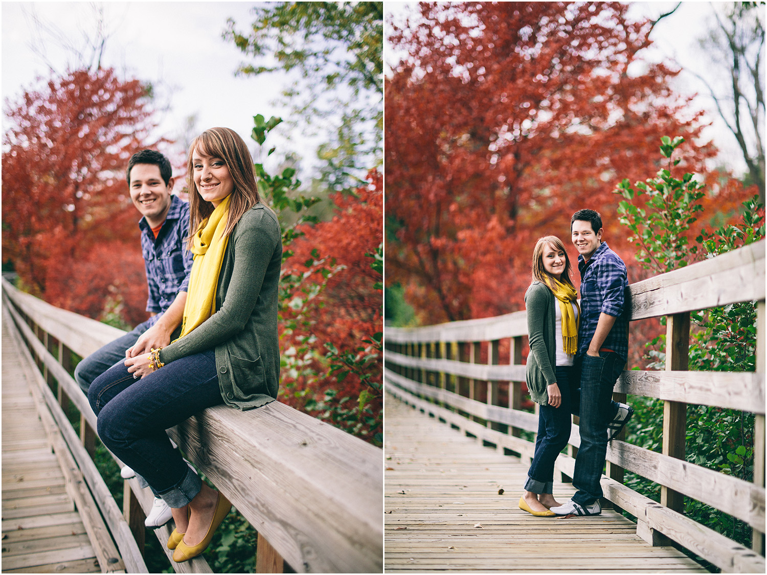 Such awesome autumn colors! - Cleveland Engagement Photographer