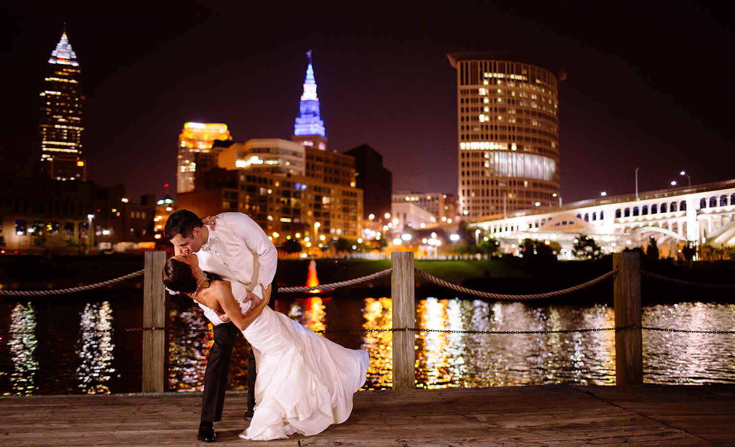 Cleveland Wedding Photographer - Windows on the River - Skyline - Mere and Joe - too much awesomeness