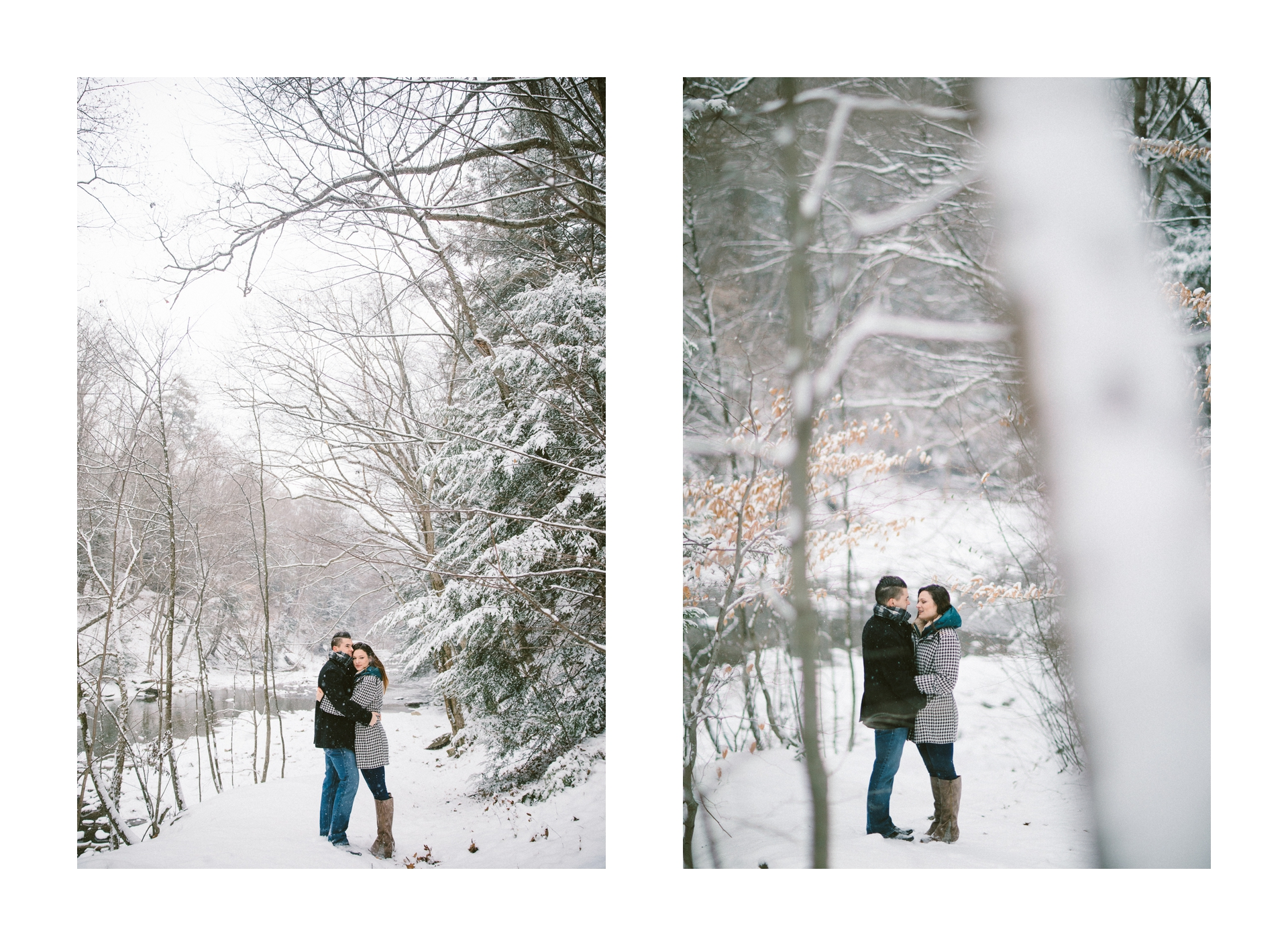Cleveland Snowy Winter Engagement Session in Chagrin Metroparks 3.jpg