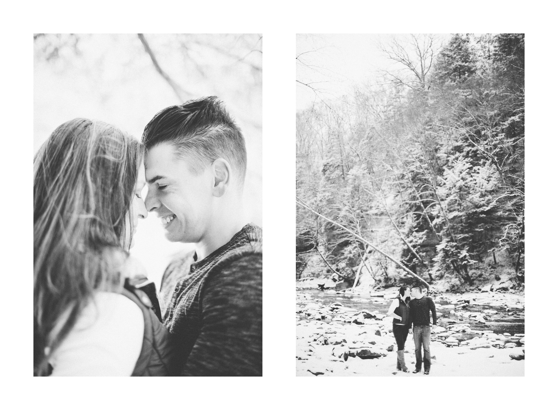 Cleveland Snowy Winter Engagement Session in Chagrin Metroparks 18.jpg